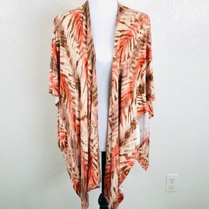 Chicos Wrap One Size Muted Beige Coral Langenlook